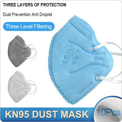 10 Pcs/Lot KN95 Dust-proof Face Masks 95% Filtration Anti-fog 5-layer Dustproof Earloop Non Woven PM2.5 Filter Protective Mask Features as KF94 FFP2