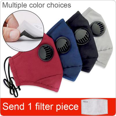 Unisex Cotton Breath Valve PM2.5 Mouth Mask Anti-Dust Virus Pollution Mouth-muffle Cloth Activated Carbon Filter Respirator