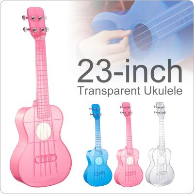23 Inch Concert Ukulele Transparent PC Material Integral Unibody Lightweight Candy Colored 4 Strings Guitar