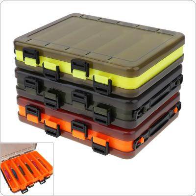 Double Side Thickening 10 Compartments Squid Fishing Lure Box for Shrimp Bait Minnow Lures Storage Case
