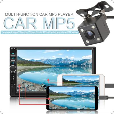 7 Inch 2 DIN Bluetooth In Dash  Touch Screen Car Video FM Radio Stereo Player with Night Vision Rear View Camera Support Mirror Link / USB / AUX / TF