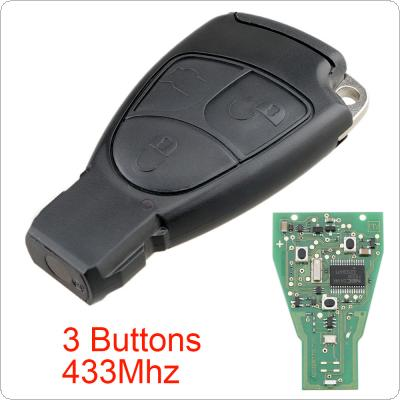 433Mhz 3 Buttons Smart Remote Car key Fob Fit for Mercedes Benz B/C/E/ML/S/CLK/CL