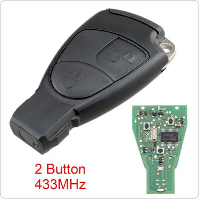 433Mhz 2 Buttons Smart Remote Car key Fob Fit for Mercedes Benz B/C/E/ML/S/CLK/CL