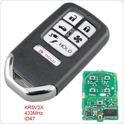 433Mhz FSK 6 Buttons  Smart  Keyless Car Remote Fob with ID47 Chip KR5V2X  Fit for Honda Clarity 2018