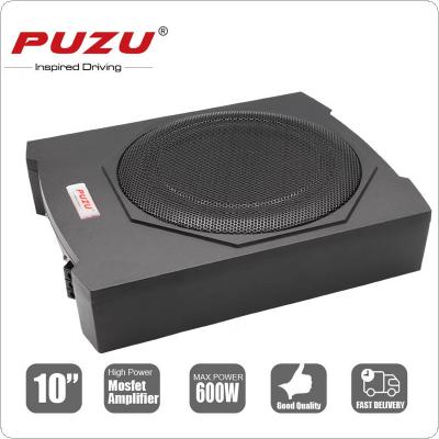 Universal Cast Aluminum  Fuselage Slim 10 Inch 600W Slim Under Seat Car Active Subwoofer Bass Amplifier Speaker