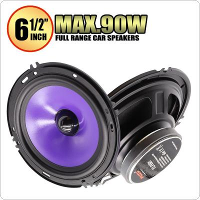 2pcs 6.5 Inch 90W  Full Range Frequency Car Audio Speaker Heavy Mid-bass  Ultra-thin Modified Speaker  Non-destructive Installation