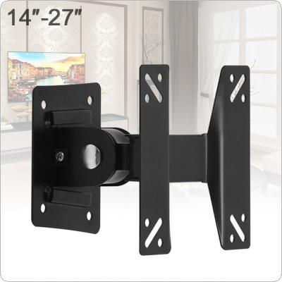 Universal F01 Adjustable 10KG TV Wall Mount Bracket Support 180 Degrees Rotation for 14 ~ 27 Inch LCD LED Flat Panel TV