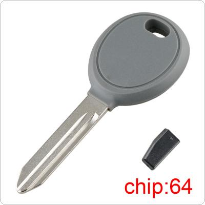 Uncut Blade Blank Car Key Ignition with 64 Transponder Chip Y160-PT Fit for Chrysler Dodge Jeep