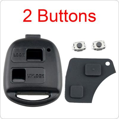 2  Button Pad Switch Remote Car Key Shell Case Fit for Toyota RAV4 Yaris Prado Corolla Land Cruiser Previa Tarago