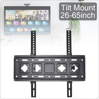 C43 Universal Load-bearing 60KG Adjustable TV Wall Mount Bracket Flat Panel TV Frame Support 15 Degrees Tilt with Level for 26 - 65 Inch LED Monitor