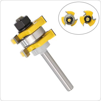3 Tooth T Tenon Type Combine Tool Puzzle Tool Floor   Carpentry Milling Cutter Carving Machine Cutter Head Exit