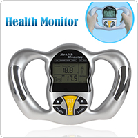 Mini Hand Held BMI Body Fat Monitor with 5 Fat Levels for Reference