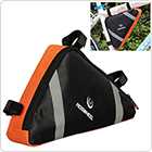 Cycling Bike Triangle Saddle Bag Front Tube Pouch - Orange