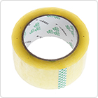 Transparent adhesive tape for packing