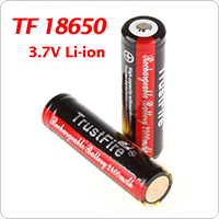 TrustFire 2pcs/lot 18650 3.7V 2400mAh Li-ion Rechargeable PCB Protective Battery