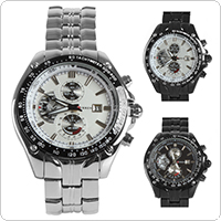 CURREN 8083 Stainless Steel Luxury Sport Quartz Hours & Date Display Men Wrist Watch with 3 Optional Styles