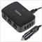 DiGiYes DC 12V 3-Socket 4 USB Port Cigarette Lighter Power Adapter for Android Cellphones / iPhones / iPads / Tablet Computers