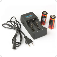 2pcs/lot 26650 3.7V Rechargeable Battery + Mltifunctional 26650 Battery Charger