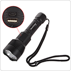 700LM XM-L2 U2-1A LED Chargerable Flashlight with USB Input / Output Interface