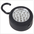 Portable Round-shape 24 LEDs Hanging Work / Inspection Light with Hook + Magnet for Camping