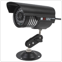 Waterproof Colorful IR 1200 TVL CMOS Camera with Night Vision + 30m View Distance