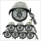 500G HDD 8-Channel High-def DVR System + 8 Black Surveillance Cameras