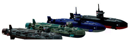 Six Channel Remote Control And 3 Motor System Seawolf Rc Submarine