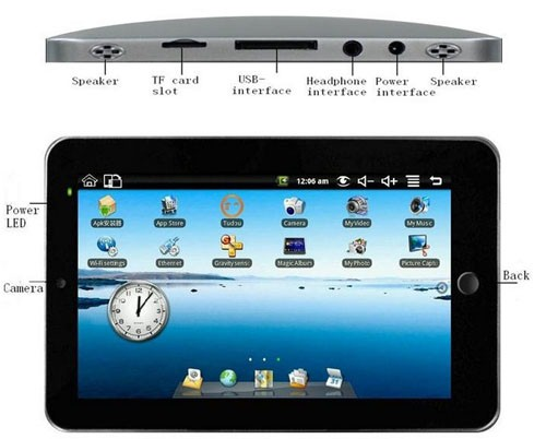 2011 New Tablet PC with Android 2.2 OS + 7 Inch LCD Touchscreen + WiFi