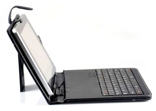 Built-in Keyboard Leather Case for 7 Inch Tablet PC with Battery