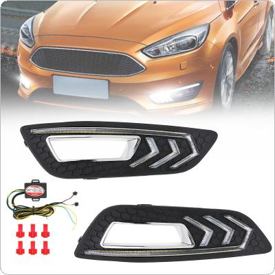 White Light Special Daylight LED Daytime Running Light Modified Mustang Lamp Fit for Ford focus 15 - 17