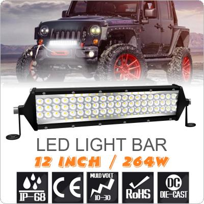 Universal 5 Row 12 Inch 264W LED Light Bar Waterproof Off Road Driving Led Work Light Bar Combo Beam for Car Tractor Boat Truck