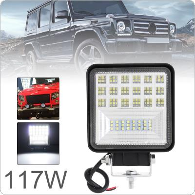 4 Inch 117W Ultra Bright LED Light Pod Combo Light Off Road Driving Light with DRL Fog Light LED Work Light for Jeep ATV UTV SUV Truck Boat