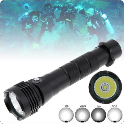 Waterproof 7500 Lumens XHP50 LED Torch Diving Flashlight Underwater 50M with 4 Modes White Flash Light for Diving