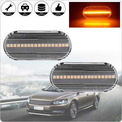 2pcs Led Dynamic Turn Signal Light Side  Marker Sequential Blinker Fit for Volkswagen VW Bora Golf 3 4 Passat 3BG Polo SB6